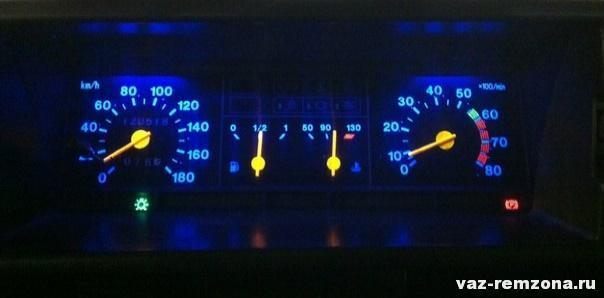 подсветка приборов ВАЗ 2109