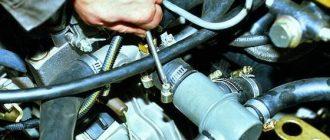 Термостат в схеме охлаждения ВАЗ 2109