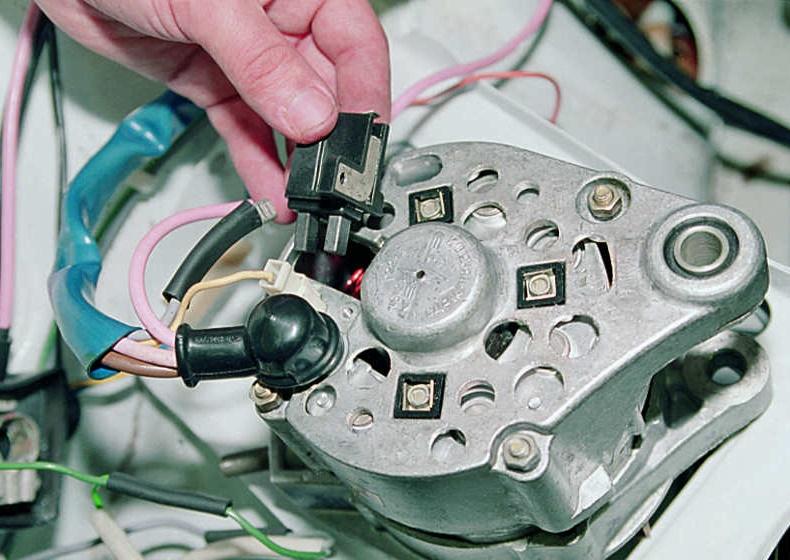 Схема подключения генератора 2107 на 2106