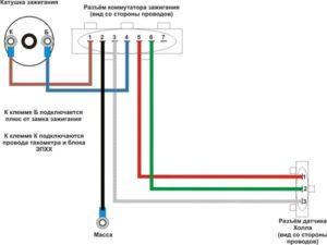 схема бесконтактного зажигания ваз 2107