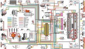 электросхема 2101