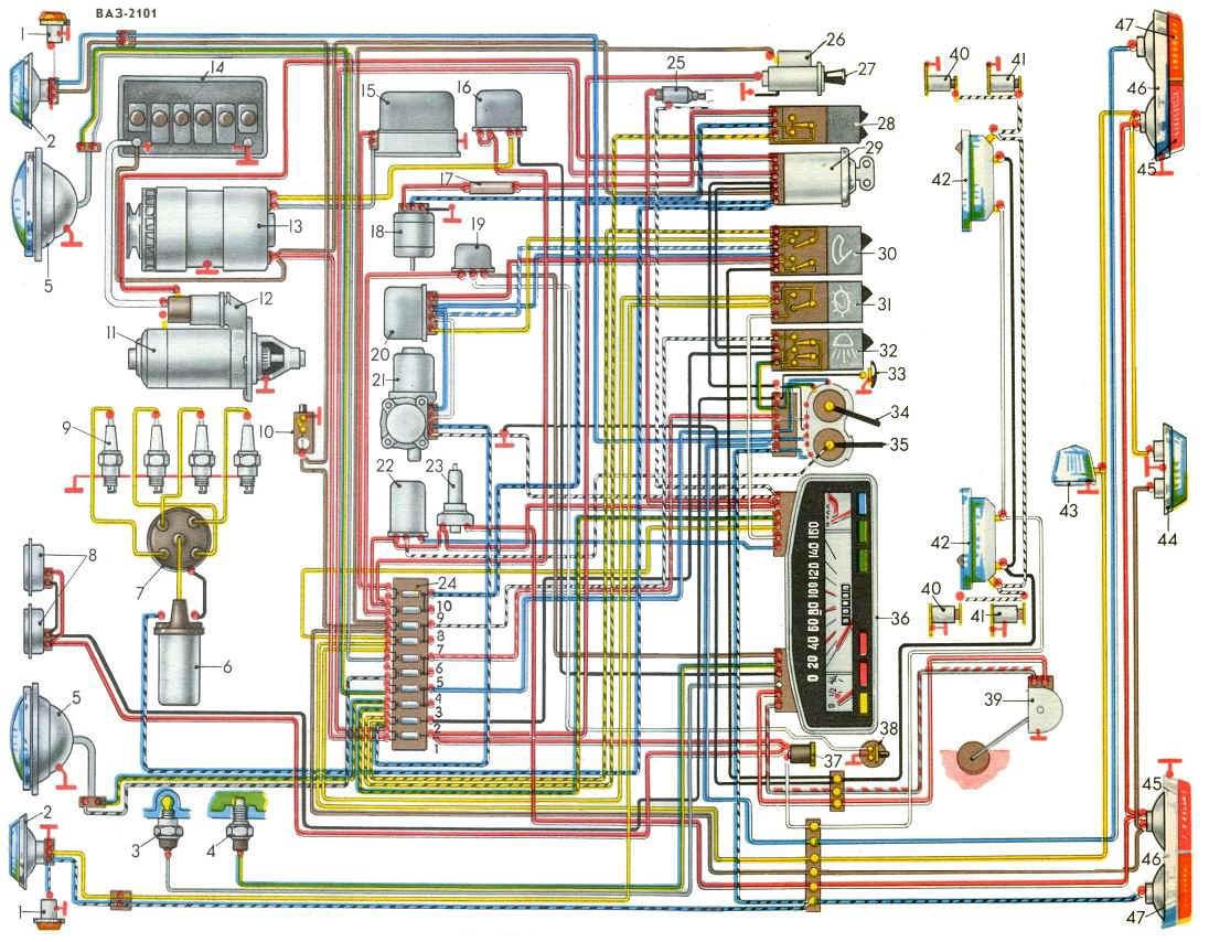 схема подключения евро предохранителей на ваз2106